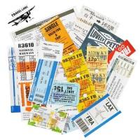 Sticker Stiker Koper 20 Pcs Desain Boarding Pass Tiket Travel Rimowa