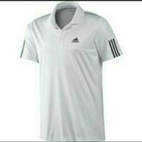polo shirt kaos kerah S M L XL Adidas putih normal size kwalitas ok
