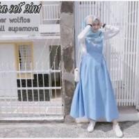 overall jumpsuit maxy dress maxi gamis jamsuit baju muslim hijab set