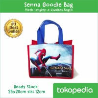 PROMO Tas Ultah Spiderman / Goodie Bag Ulang Tahun Spider Man Terlaris