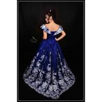Gaun Pengantin Warna Biru Dongker High Quality (Wedding Dress Gown)