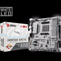 TERBARU MSI B350M Mortar Arctic - AM4 - AMD Promontory B350 - DDR4 - U
