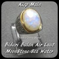 BATU CINCIN BIDURI BULAN AIR LAUT / MOONSTONE SEA WATER HQ MAIN KLEP