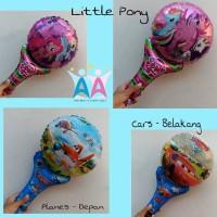 TERMURAH!! Balon Foil TONGKAT Karakter Cars Planes Pony