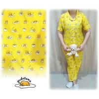 Piyama Baju Tidur Setelan Celana Panjang Karakter Gudetama