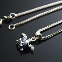 Kalung Perak EMAS PUTIH ASLI import KOREA - WG 099 (Garansi 6 bulan)