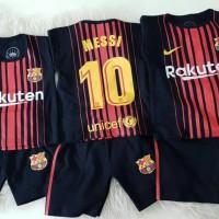 Baju Bola Anak Barca Messi Set SML