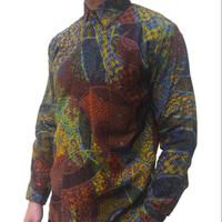 Batik pria kemeja men bahan cap shirt silk kain sutra tulis tenun hits