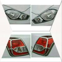 Paket Garnish Garnis List Lampu Depan Belakang Datsun Go + Panca