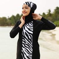 Baju renang muslim Adeeva white by Assila