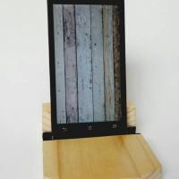 Wooden Handphone Stand/Docking