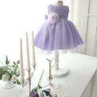 Dress anak gaun pesta baju ulang tahun party balita AR003 purple ungu