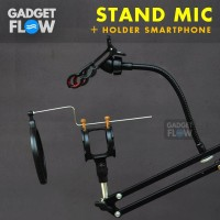 Stand Mic Microphone Arm Stand Suspension - Holder HP Lazypod