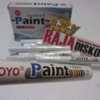 spidol ban mobil motor toyo original putih paint marker