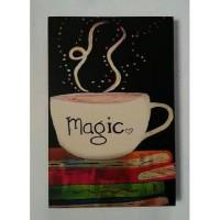 Hiasan Dinding Poster Unik Kafe Restoran Dapur Coffee Magic