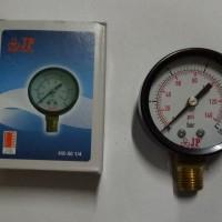 JP 1/4 drat samping Pressure Gauge /Pengukur Tekanan untuk pompa air