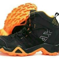 Sepatu Hiking Adidas AX2 Hi Hiking Hitam Orange Sneakers Pria Sport