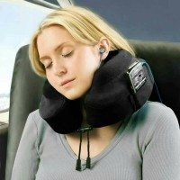 Bonform Travel Pillow / Bantal Leher Traveling