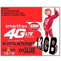 Perdana Smartfren 4G GSM Kuota 13 GB