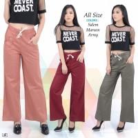 Celana Panjang Kulot Katun Pants Girl Wanita Women Woman Fashion Denim