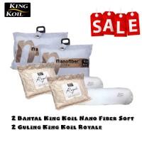 Sale! 2 Bantal King Koil Nano Soft dan 2 Guling Royale