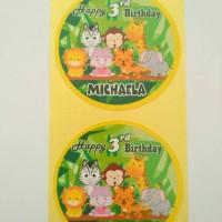 Baby Animal Sticker Mika Bento, Goodie Bag Souvenir Birthday Part