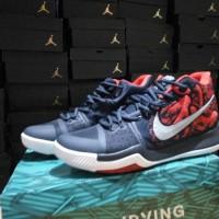 Sepatu Basket Nike Kyrie 3 Samurai Navy Biru Dongker Red Merah