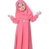 baju anak muslim/gamis anak perempuan warna guava/Busana anak muslim