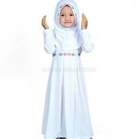 Baju anak muslim/gamis anak perempuan warna putih/Gamis anak terbaru