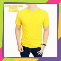 Kaos polos kuning - baju polos kuning - baju kaos polos warna kuning