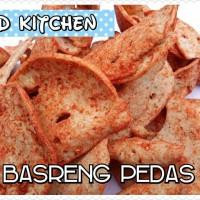 Basreng Pedas Bakso Goreng Gurih Kering Kripik Makanan Khas Bandung
