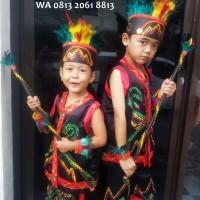 Dayak SD Kls1-3 Lengkap | Baju Adat Kostum Anak Karnaval Parade Pawai