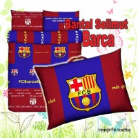 BARCELONA Barca, Bantal Selimut Motif BOLA ( Balmut )