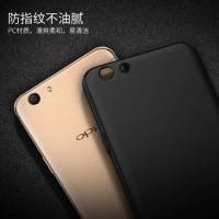 SoftCase Black Matte Oppo F3/Baby Skin/Full Black/Soft Anti Minyak