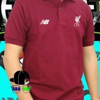 Kaos kerah polo shirt Liverpool baju Distro terbaru
