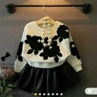 set flowe kid pakaian stelan baju anak perempuan fashion anak
