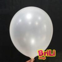 Balon Latex Metalic Putih   Balon Karet Lateks White 11 inch