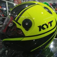 HELM KYT X-ROCKET YELLOW FLUO/BK