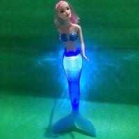 mainan anak cewek Boneka Barbie  putri duyung ada LED keren best deals