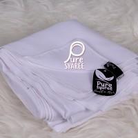 Jilbab syari segi empat Bolak Balik Double White