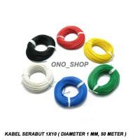 Kabel Serabut 1x10 ( Diameter 1 mm, 50 Meter )