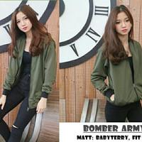 Bomber army / Hijau / Lumut / Jaket / wanita Murah Grosir Baju Cewek