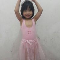 Baju ballet preloved utk anak usia 2-3th warna pink