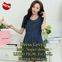 Dress Levya ST -   dress warna biru dongker