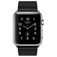 Apple Watch Hermes Single Tour 42mm Noir Box Band - Jam Tangan Unisex