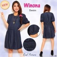 Dress Winona ST -   dress warna biru dongker