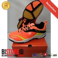 Sale ! Sepatu Badminton / Bulutangkis RS Sirkuit 570 Orange - Original