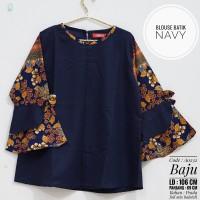 blouse/atasan/baju/batik katun rami/linen/jepang wanita premium