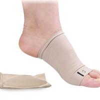 Insoles Kain Silikon Arch Flat Foot Cushion Kaki Datar Insole
