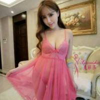 Lingerie Dress Transparan Piyama Baju Tidur Wanita Sexsi Babydolls